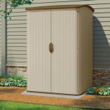5' x 4' (1.42x1.24m) Suncast Resin Conniston Three Vertical Shed