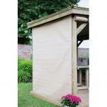 3m Hexagonal Garden Gazebo Curtains - Cream