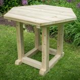 3m Hexagonal Garden Gazebo Table