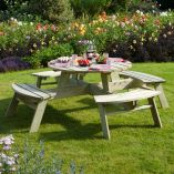 7'x7' (2.1x2.1m) Rowlinson Round Picnic Table