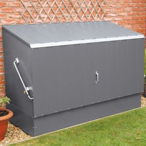 6'4 x 2'9 Trimetals Metal Bike Shed - Anthracite (1.95m x 0.88m)