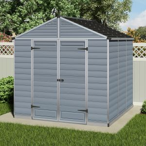 8'x8' (2.4x2.4m) Palram Grey Skylight Shed