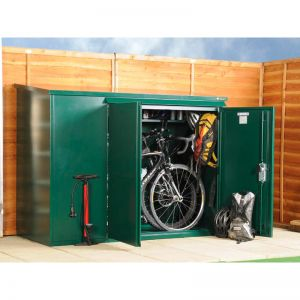 6' x 3' Asgard Addition Premium Metal Bike Shed (1.8m x 0.9m)