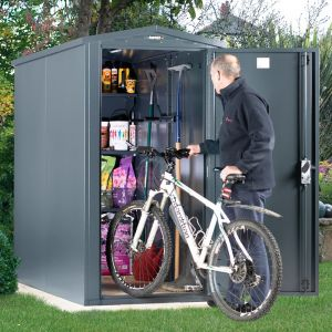 3'6 x 7'4 Asgard Sentry Metal Bike Shed (1.06m x 2.23m)