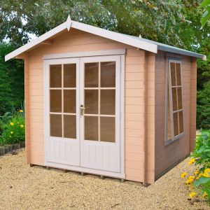8x8 Shire Barnsdale 19mm Log Cabin