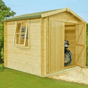 Shire Bradley 2.4m x 2.4m Log Cabin Shed (19mm)
