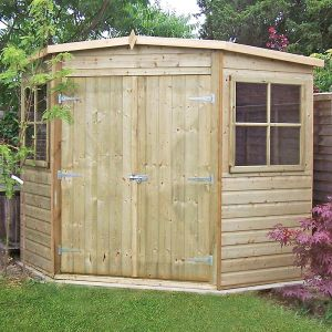 8'x8' (2.4x2.4m) Shire Pressure Treated Corner Shed