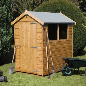 7' x 5' (2.14x1.52m) Traditional Standard Apex Wooden Garden Shed