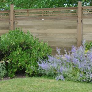 Forest 6' x 1' Slatted Fence Topper (1.83m x 0.3m)