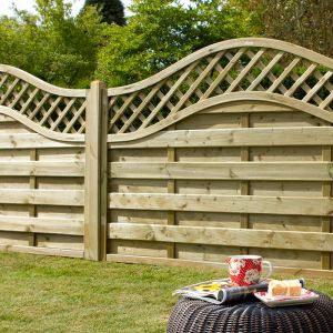 Forest 6' x 3' Pressure Treated Prague Decorative Europa Fence Panel (1.8m x 0.9m)