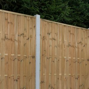Forest 6' x 6' (1.8m x 1.8m) Vertical Hit and Miss Pressure Treated Fence Panel