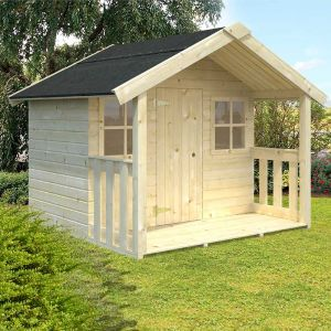 Palmako Felix 1.8m x 1.2m Childrens/Kids Cabin Luxury Outdoor Playhouse (16mm)