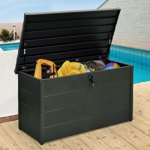 4' x 2' Falcon 130 Heavy Duty Metal Garden Storage Box 400L (1.3m x 0.6m)
