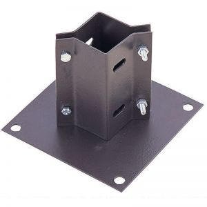 Bolt-Down Post Shoe For 65-80mm Wooden Posts