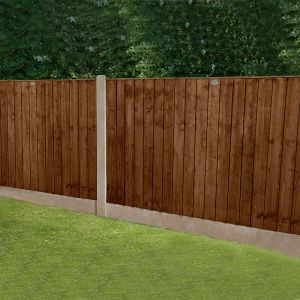 Forest 6' x 4' Pressure Treated Featheredge Fence Panel (Dark Brown) (1.83m x 1.23m)