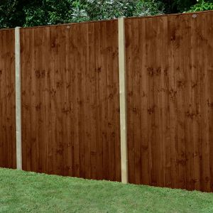 Forest 6' x 6' Pressure Treated Featheredge Fence Panel (Dark Brown) (1.83m x 1.85m)