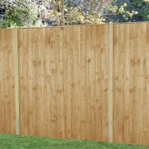 Forest 6' x 6' Pressure Treated Featheredge Fence Panel (1.83m x 1.85m)
