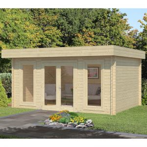 15'x11' (4.5x3.3m) Palmako Bret 44mm Log cabin