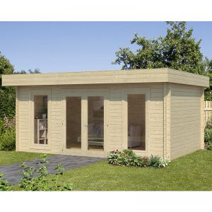 17'x13' (5.1x3.9m) Palmako Bret 44mm Log Cabin
