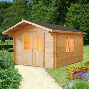 10'x12' (3.2m x 3.8m) Palmako Lillian 44mm Log Cabin