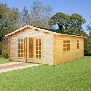 12x18 (3.8x5.7m) Palmako Irene 44mm Log Cabin