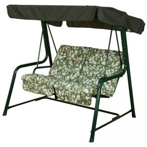 Glendale Deluxe Vienna 2 Seater Cotswold Leaf Garden Swing Seat