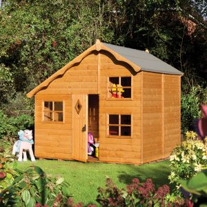8'x7' (2.4x2.1m) Rowlinson Playaway Swiss Cottage Playhouse
