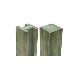 7ft 11in (2.4mx94x94mm) Reeded Slotted Pressure Treated Fence Post