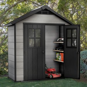 7' x 4' Keter Oakland Plastic Garden Shed (2.1m x 1.2m)