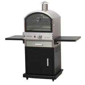 Verona Black Deluxe Gas Pizza Oven