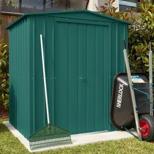 6'x8' (1.8x2.4m) Lotus Heritage Green Shed