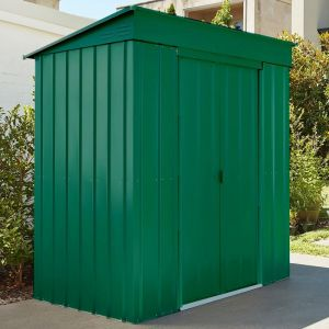 6'x3' Lotus Pent Heritage Green Shed