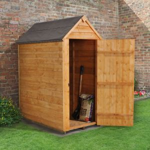 3' x 5' Forest Overlap Apex Dip Treated Wooden Windowless Shed