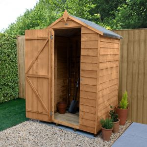 4' x 3' Forest Overlap Dip Treated Windowless Apex Wooden Shed