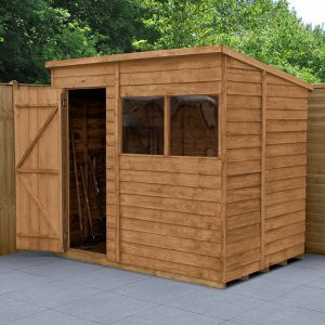 7' x 5' Forest Overlap Dip Treated Pent Wooden Shed