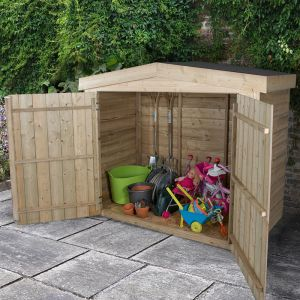 7x3 Pressure Treated Large Apex Outdoor Store