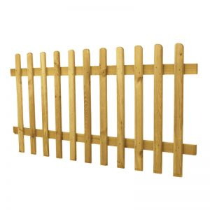 3ft (0.9m) High Rounded Pale Picket Fence Panel