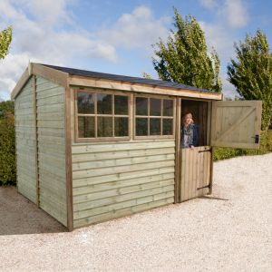 12'x8' (3.6x2.4m) Shed-Plus Champion Barnstyle Workshop - Stable Door