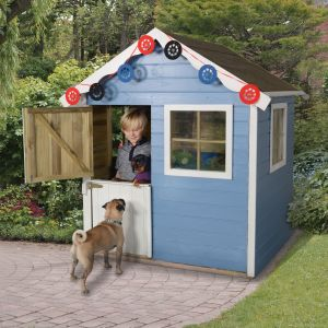 4'x4' (1.2x1.2m) Play-Plus Charlie Pressure Treated Playhouse