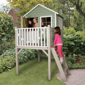 4'x4' (1.2x1.2m) Play-Plus Charlie Pressure Treated Tower Playhouse