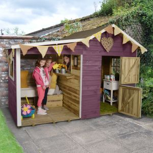 8'x4' (2.4x1.2m) Play-Plus Dixie Duo Pressure Treated Playhouse