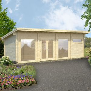 23'x10' (6.9x3m) Palmako Violet 70mm Log Cabin