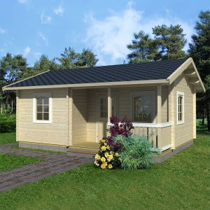 21'x15' (6.3x4.5m) Palmako Sandra 70mm Log Cabin