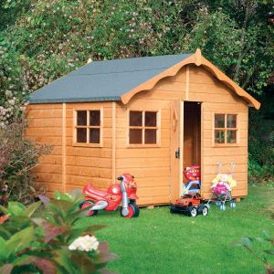 8'x7' (2.4x2.1m) Rowlinson Playaway Lodge Playhouse