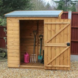 6' x 3' (1.83x0.91m) Traditional Pent Tool Store Shed