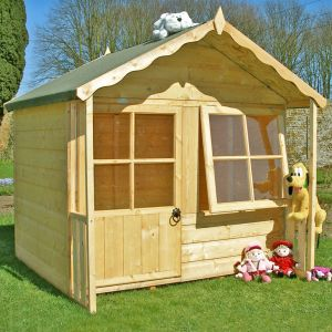 5' x 5' (1.49x1.49m) Shire Kitty Childrens/ Kids Wooden Garden Playhouse