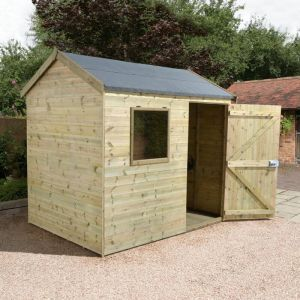 6' x 8' Shed-Plus Champion Heavy Duty Reverse Apex Shed - Single Door