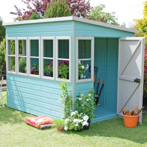 8'x6' (2.4x1.8m) Shire Sun Pent Potting Shed