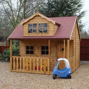 Traditional Swiss Cottage Playhouse - 10' x 10' (3.05x3.05m)