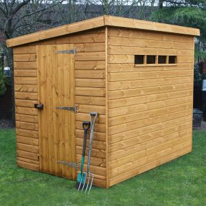 12' x 8' (3.66x2.44m) Traditional Pent Security Shed